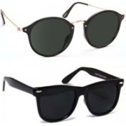 SRPM Cat-eye, Wayfarer Sunglasses(Black)
