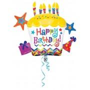 BALON SUPERSHAPE URIAS CUPCAKE - HAPPY BIRTHDAY