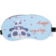 Skylofts Soft & Smooth Fabric Cute Happy Panda Sleeping Mask Cooling Pack eye masks for Travel Eye Shade(Blue)