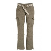 Womens Urban Utility Pants with Belt - Khaki Trousers