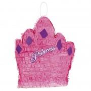 Geen Pinata roze prinsessenkroon 41 cm