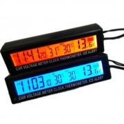 5V1 Hodiny,Teplomer s meraním vnútornej a vonkajšej teploty, alarm a merač batérie do auta