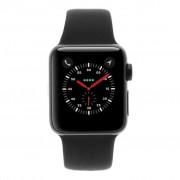 Apple Watch Series 2 - caja de acero inoxidable en negro 38mm - correa deportiva negra refurbished