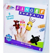 New Grafix Make Your Own Finger Puppets 5 Animals Inc Felt Eyes Glitter Glue Grafix For Ages 5+