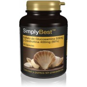 Simply Supplements Sulfato de Glucosamina 500mg y Condroitina 400mg (90%) - 60 Cápsulas