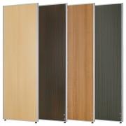 木目調ローパーテーション H1800×W600mm パーティション 間仕切り ダークグレー パーテーション 木目調 オフィス家具