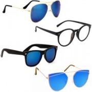 Vitoria Aviator, Wayfarer, Spectacle , Cat-eye Sunglasses(Multicolor)