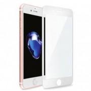 Folie Super Strong 3D iPhone 7/iPhone 8 cu sticla securizata Premium Asahi Japonia Joyshell acoperire completa si margini curbate alb