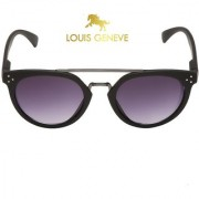 Louis Geneve Oval Stylish Fashionable Women's Sunglasses (LG-SG-106-BM-BLACK)