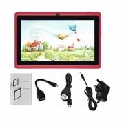 7-pulgadas De Pantalla 1024*600 Niños Enchufe UK Quad-Core De Tablet PC 512MB +8GB Pad Rojo