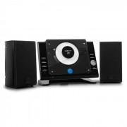 OneConcept Vertical 70 stereoanläggning CD USB MP3 AUX svart