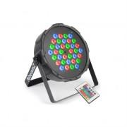 beamZ FlatPAR 36 x 1W PAR Spotlight RGB LED DMX IR inc. Remote Control