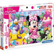 Puzzle Glitter Minnie Mouse Clementoni 104 piese