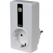 Nexa fjärrstyrd strömbrytare, 2300W, 230V, jordad, På/Av, passar elektronisk trafo, självlärande, vit