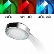 Cap de dus cu led multicolor termosensibil