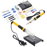 DIY Crafts Electric Rework Soldering Iron Solder Kit Tool + Desoldering Pump