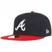 New Era 59Fifty TSF Atlanta Braves Cap Fitted Basecap Baseballcap Kappe Baseballkappe MLB