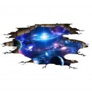 Galaxy 3D Sticker Espacio Ultraterrestre Papel Pintado Decoración De Techo De Salón
