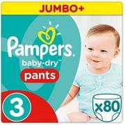 Pampers Broekjes Baby Dry Pants Maat-3 Midi 6-11kg Jumbo Pluspack 80-Luiers