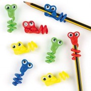 Baker Ross Pencil Toppers - 8 Monster Pencil Toppers for children. With wiggle-eyes, twist them onto your pencil. Size 5cm