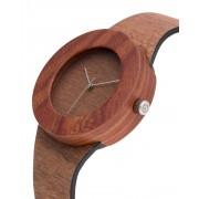 Analog Watch Red Sanders & Makore / No Hour Markings Watch M