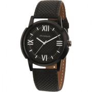 Invader INV-FNDI-BLK Premium leather strap mens watch