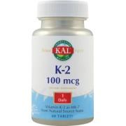 Vitamina K-2 100MCG -60tablete
