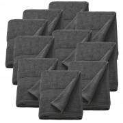 [neu.haus]® 10 x Toallas de rizo para Invitados - 100 x 150 cm - Set de toallas de baño - Paño - Toalla de sauna grande - 100% algodón - 450 g/m² - Gris