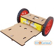 MDF Robotic Chassis Complete Robot Platform with Chassis, Motor, Wheel, Fittings