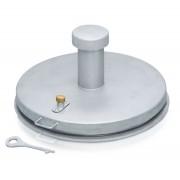 Zarges Brunnenabdeckung in runder Frorm aus Edelstahl mit Isolierung Durchmesser 625 mm