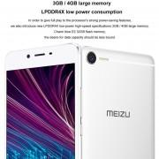EB 5,5 Pulgadas FHD MEIZU Meilan E2 3 GB 32 GB 4G Teléfono Celular MTK Holio P20 Octa Core-blanco