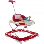 Premergator cu control parental Super Car - Sun Baby - Rosu cu Crem