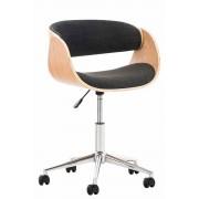 Sedia vintage ufficio PORTMORE in tessuto, grigio scuro CLP, grigio scuro, altezza seduta