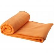 Merkloos Fleece deken oranje 150 x 120 cm