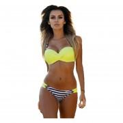 Bikini Traje De Baño Para Mujer-Amarillo
