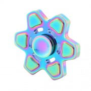 Fidget Spinner Toy Stress Reducer Anti-Anxiety Toy for Children and Adults Steel Beads Bearing + Zinc Alloy Material Colorful Hexagonal Star