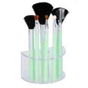 Geen 7 Groene make-up/schmink kwastjes in houder