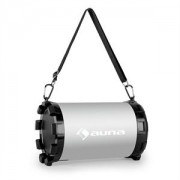 Auna Dr. Silver Boom 2.1- bluetooth hangfal, USB, SD, AUX, akkumulátor (CS6-DR.-SILVER-BOOM)
