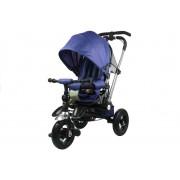 Tricicleta multifunctionala cu maner reversibil, pliabila si cu pozitie de somn, Trike PRO700, Navy Blue