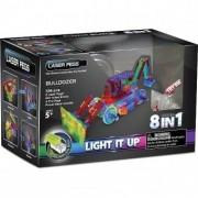 Kit Constructie cu Lumini Laser 8 in 1 - Buldozer