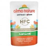 6x55г HFC Almo Nature, консервирана храна за котки - пилешко филе