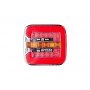 Quadratische LED-Rückleuchte 12-24V mit dynamischem Blinker
