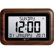 Ceas de masă digital radiocomandat Geemarc Viso 10, lemn