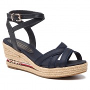 Espadrile TOMMY HILFIGER - Iconic Elba Corporate Ribbon FW0FW04056 Midnight 403
