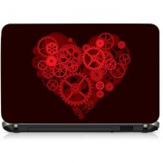 VI Collections Mechinery Heart Printed Vinyl Laptop Decal 15.5