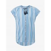 TOM TAILOR Gestreepte kaftan blouse, Kinderen, marina blue, 164