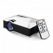 UNIC UC46 Plus with USB/HDMI/VGA/WIFI Miracast DLNA Airplay 1200 lm LED Corded Portable Projector (White)