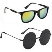 Tazzx Wayfarer, Round Sunglasses(Yellow, Black)