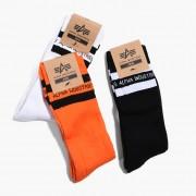 Șosete Alpha Industries Stripe Socks Box 188923 442