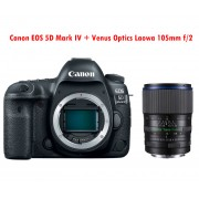 Canon EOS 5D Mark IV DSLR Camera (Body) + obiectiv Venus Optics Laowa 105mm f/2